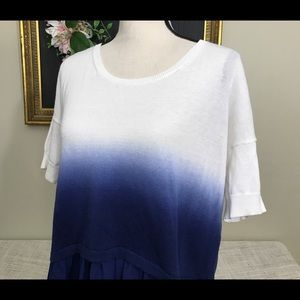 Womens French Connection Dip Dye Ombre Sweater
